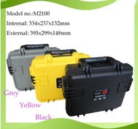 Wholesale high quality waterproof safety seal equipment case toolbox mm safety camera box Instrument case with pre cut foam lining