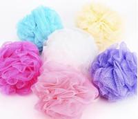Wholesale Bath Shower Body Bubble Exfoliate Puff Sponge Mesh Net Ball Mesh Bath Sponge Accessories Home Supplies