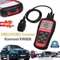 Wholesale Hot Sale OBD2 Scanner KW808 Car Diagnostic Code Reader CAN Engine Reset Tool KONNWEI Auto Scanner Coverage