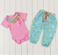 baby pointing - hot sale baby suit pants short sleeved jeans points pants two piece chic baby girl set