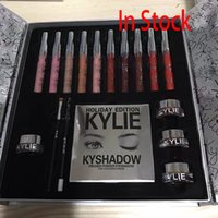 Wholesale 2017 Newest Kylie Holiday Big Box Collection Kit Matte Kylie Jenner Liquid Lipgloss Collection Set For Christmas Gift XL