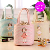 Wholesale fashion children lunch bag japanese style isothermic bags ice packs cartoon print picnic shoulder school bag boys girls