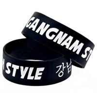 bangles songs - Shipping Wide Band Gangnam Style Silicon Bracelet Psy Rap Song Bangle Music
