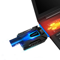Wholesale COOL COLD Portable USB Air Extracting Laptop Notebook Cooler Cooling Fan Radiator with Vacuum Fan Four Sleeves for Gaming Use