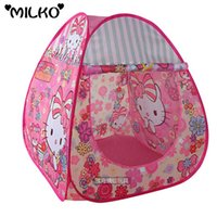 Wholesale Babty Safety Tent Cartoon Playpen Kids Play House Children Portable Tent Teepee Stress Ball Pool Yard Foldable Outdoor Indoor