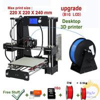 Wholesale New Upgrade desktop D Printer Prusa i5 Kg Filament G TF Card for gift BIG LCD