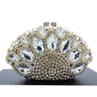Wholesale Women Diamante Diamond Crystal Bag Clutch Purse Evening Party Handbag Rare