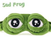 2016 Pepe la grenouille Triste grenouille Masque de l'œil 3D Coussin Dormir Drôle Reste Sommeil Anime Cosplay Costumes Accessoires Cadeau