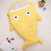 add corduroy - Baby Sleeping Bag Cute Shark Sleeping Bags Kids Warm Embrace Add More Cotton Winter baby Seeping Bag Outdoor