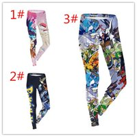 sexy cartoon girl - New Sexy Girl Women Summer Cartoon Poke Ball Charizard Blastoise D Prints Running Jogging Elastic GYM Fitness Sport Leggings Yoga Pants