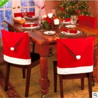 christmas crafts - 2016 NEW cm Christmas Decoration Supplies Restaurant Chairs Used Seat Cover Adornos Navidad Casa Red cm Cadeira Crafts GIFTS