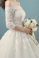 Wholesale 2016 of the new Qi to marry the bride wedding dress with lace and long tailed a maternity wedding dresses with sleeves in the shoulder