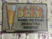 Bière Vintage Decorative Craft Tin Sign Rétro peinture en métal Antique Affiche Bar Pub Signs Wall Art