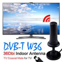 achat en gros de gagner antenne booster de signal-2017 HOT HD Gain Noir Digital DVB-TW36 36dBi 470-862MHz Booster Indoor Antenna Pour HDTV amplificateur de signal de télévision numérique Vente