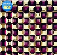 Wholesale Multi edge grinding glass mosaic mirror storefront bar aisle Yaoxian decorative building materials ceramic tile