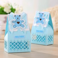baby shower gift ideas - Pink and Blue Cute Baby Favors Boxes Baptism Bombonieres Favors Baby Shower Favors Ideas Guests Gifts Box Boxes
