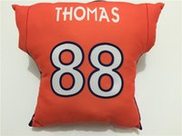 Wholesale Broncos Cushion Elway Manning Miller Green Thomas Navy Orange Fans Football Pillows Christmas Throw Pillows Covers For sofa