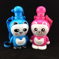 animal bottle water - ML Baby Drinking Bottles For Kids Cartoon Straw Water Bottle Cute Shaker Drink Bottle Bouteille Gourde