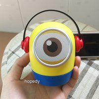 Wholesale 2016 NEW Christmas gifts yellow people Minions portable bluetooth speaker phone usb computer TF card subwoofer bluetooth stereo