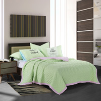 Wholesale New arrival fruit green quilt set washed microfiber with reactive dying eco freindly fabric good for health