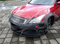 Wholesale High Quality Fashion Car Styling Fiber Glass FRP LB Stage Style Front Bumper Fit For G Series V36 Coupe Front Bumper with Lip