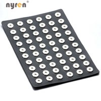 Wholesale Hot sale Black PU leather Snap Stands Display Set mm Snap Buttons Ginger snaps Jewelry ZJ002