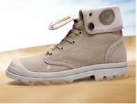 al por mayor mujer botas militares-Hombres Mujeres Moda Alto Destacados Botas Militar Desierto Botas Masculino Botas Palladium Botas Amantes Zapatos Casual Cowboy Motocicleta Booties