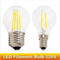 Wholesale G45 Style Bulb G45 Mini LED Globe Bulb with Filament LED Tungsten Bulb W lm E12 E27 Screw Base Warm White W Incandescent Replacement