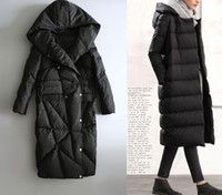argyle clothes - QX35 Black Women Long Down Jacket Womens Parkas Keep Warm Hoodied Winter Ladies Outwear Coats Woman Clothing Plus Size