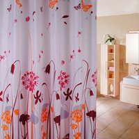 Wholesale Hot Sale Polyester Fabric Shower Curtains Liner Waterproof Printed Pattern Home Products Washable Waterproof Plastic Hooks cm Size