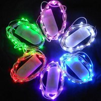 battery curtain lights - 100Pieces CR2032 Button Battery Operated M LED Micro LED String Light Waterproof Led Fairy Light Strip For Party Wedding