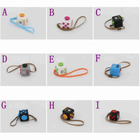 Big Kids Select color(A-I) PVC New 2017 Novelty Fidget Cube Toy Stress Relief Focus For Adults and Children Decompression Anxiety Toys christmas Gifts