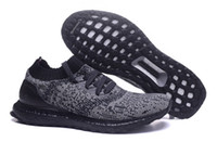 baseball pvc - Ultra Boost Uncaged Black Running Shoes Runners Shoes Low Tops Men Ultra Boost Cool Running Sport Shoes Styles Athletic Sneakers