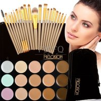 Wholesale 2016 Manufacturer Professional Color Concealer Brown Gold Tube Cosmetic Brush Make up Cosmetics Product Portfolio