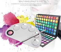 artists palettes - set Arc Stainless Steel Makeup Palette Cosmetic plate Artist Tools for Foundation Eye shadow lip powder