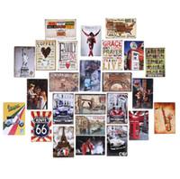 Wholesale Wholesales piece movie poster Souvenir iron painting Tin Sign Garage shop man cave Retro Metal Art Poster