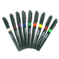 Venta al por mayor HERO profesional de ingeniería de pluma recargable de tinta aguja lápiz pluma de dibujo 10pcs / lot