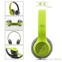 Wholesale P47 Bluetooth Headphone Wireless Headband Earphone Hands Music Headset With MF TF for Samsung HTC LG Mobile Phone