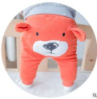 Wholesale Fashion Cartoon Baby PP pants Cute Bear Toddler Long Pants New Korean Cotton Infant All match Trousers Babies Clothes