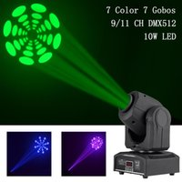 Wholesale Mini W Moving Head Light RGBW LED Patterns Stage Lights DMX512 Automatic Professional CH Party Disco Show DJ Showing Lighting
