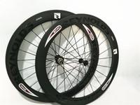 Wholesale Carbon Fiber Road Bike Wheels C Clincher Wheelset mm UD Matte width DT S hubs Spoke
