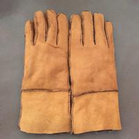 Wool army winter mittens gloves - 2017 Winter Genuine Leather women Real Sheepskin Lady Gloves Fashion Women Mitten Gloves Warm Mittens Gloves G23