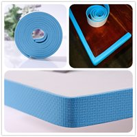 Wholesale 6pcs High Quality New Style Baby Safety NBR Stripe Baby Protection Products Flat Bar Table Corner Guards Edge Guards