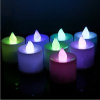 Wholesale LED Flickering Electronic Colorful Candles Light Candle Christmas Holiday Decoration Flameless smokeless and long lasting
