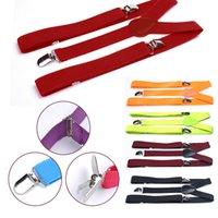 Wholesale Clothes Accessories Y Shape Adjustable Braces Solids Colors Men Womens Clip on Suspenders