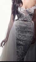 Wholesale Stunning Sequined Mermaid Sexy Evening Dresses Sweetheart Neck Sleeveless Ruffle Sweep Train Prom Dress Backless evening gowns