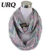 achat en gros de gros foulards sans fin-Vente en gros-2016 Nouvelle conception zip impression écharpes hiver chaleureux écharpes tube pour les femmes écharpe sans fin cravates V8A18491
