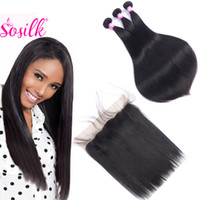 Wholesale Straight Brazilian Virgin Hair With Lace Frontal Closure X4 Grade A Unprocessed Virgin Hair Remy B Hair Weaves With Closure For Sale