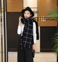 Wholesale Scarf Women scarves Plaid Wrap Shawl winter scarf luxury brand for women foulard blanket scarf Thicken Soft Fashion bandana Size cm