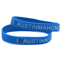 austin mahone - Hot Sell PC I Love Austin Mahone Silicon Bracelet For Music Fans Show Your Support For Them By Wearing This Wristband